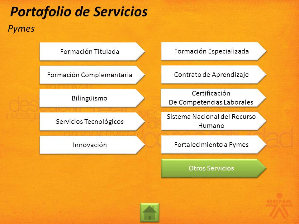 Formación Complementaria Bilingüismo Servicios Tecnológicos Innovación Formación Titulada Contrato de Aprendizaje Certificación De Competencias Labora