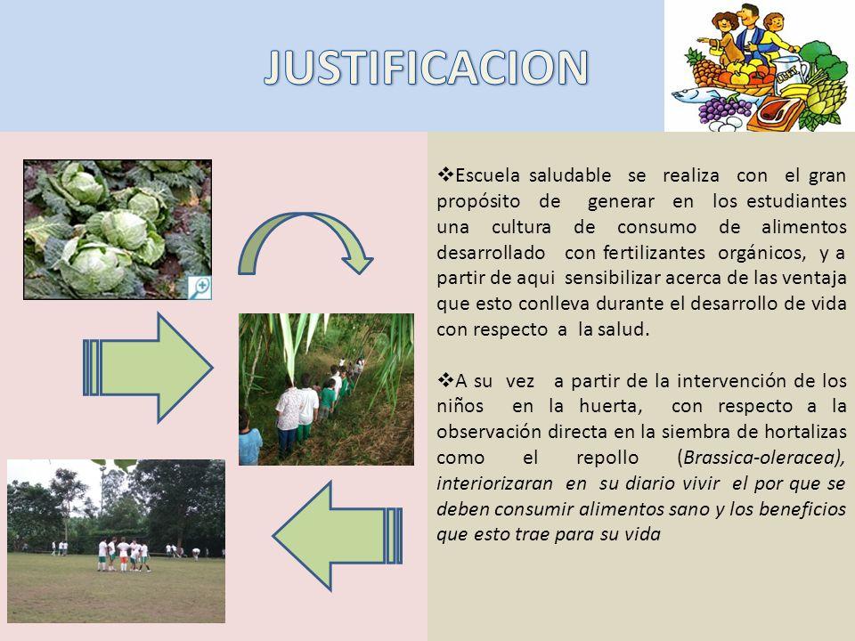 Escuela saludable se realiza con el gran propósito de generar en los estudiantes una cultura de consumo de alimentos desarrollado con fertilizantes or
