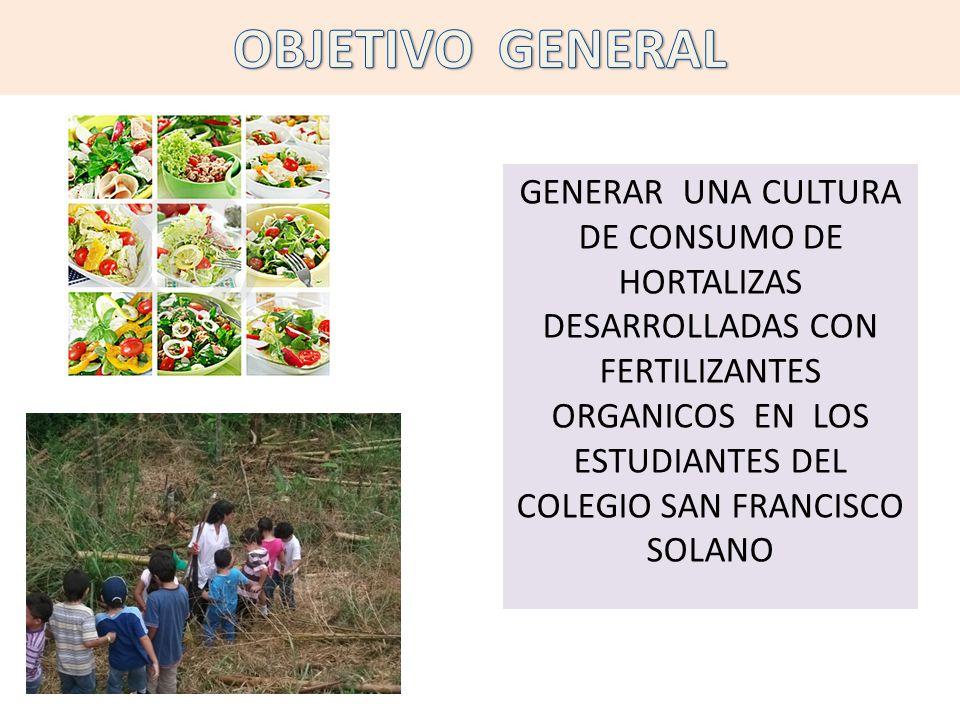 Fomentar en los escolares un sentido de responsabilidad en el auto cuidado de la salud a través de sensibilización pedagógica con respecto al consumo de alimentos 100% orgánicos.