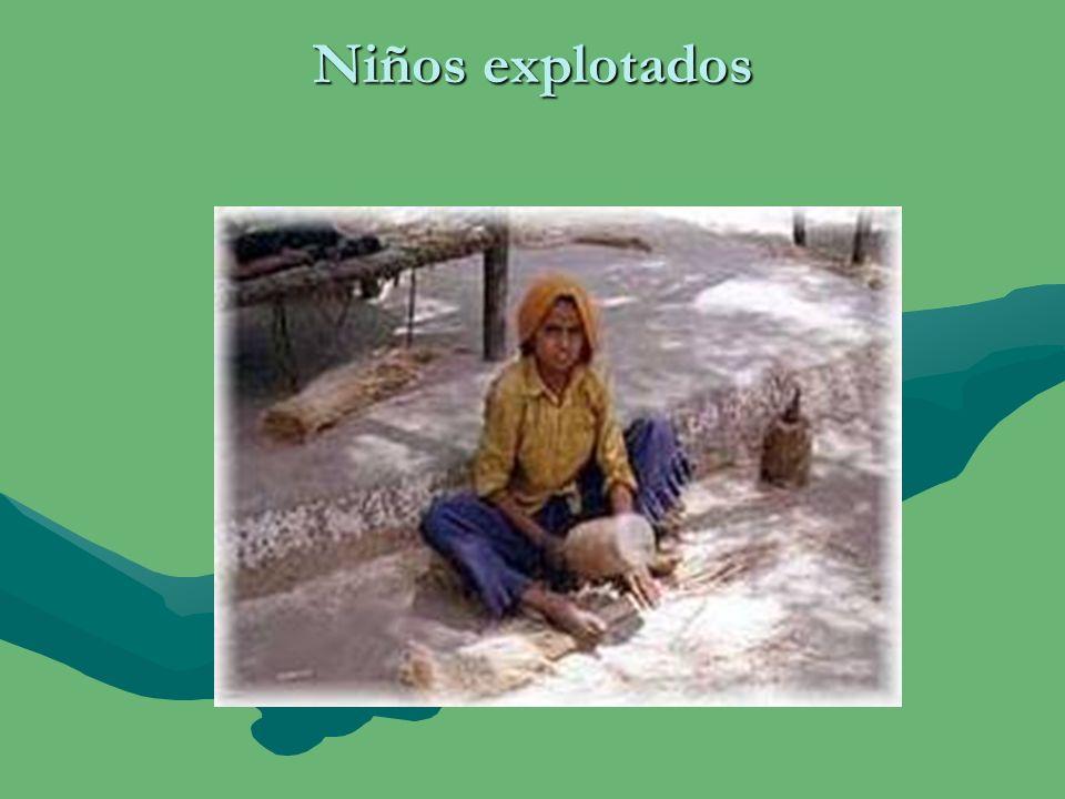 Imagen de las explotaciones de niños