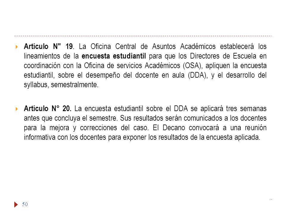 Artículo N 19.