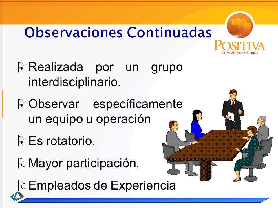 Observaciones Continuadas Realizada por un grupo interdisciplinario.