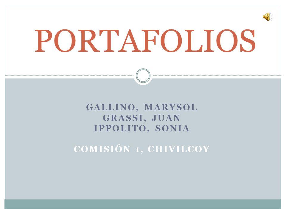 GALLINO, MARYSOL GRASSI, JUAN IPPOLITO, SONIA COMISIÓN 1, CHIVILCOY PORTAFOLIOS