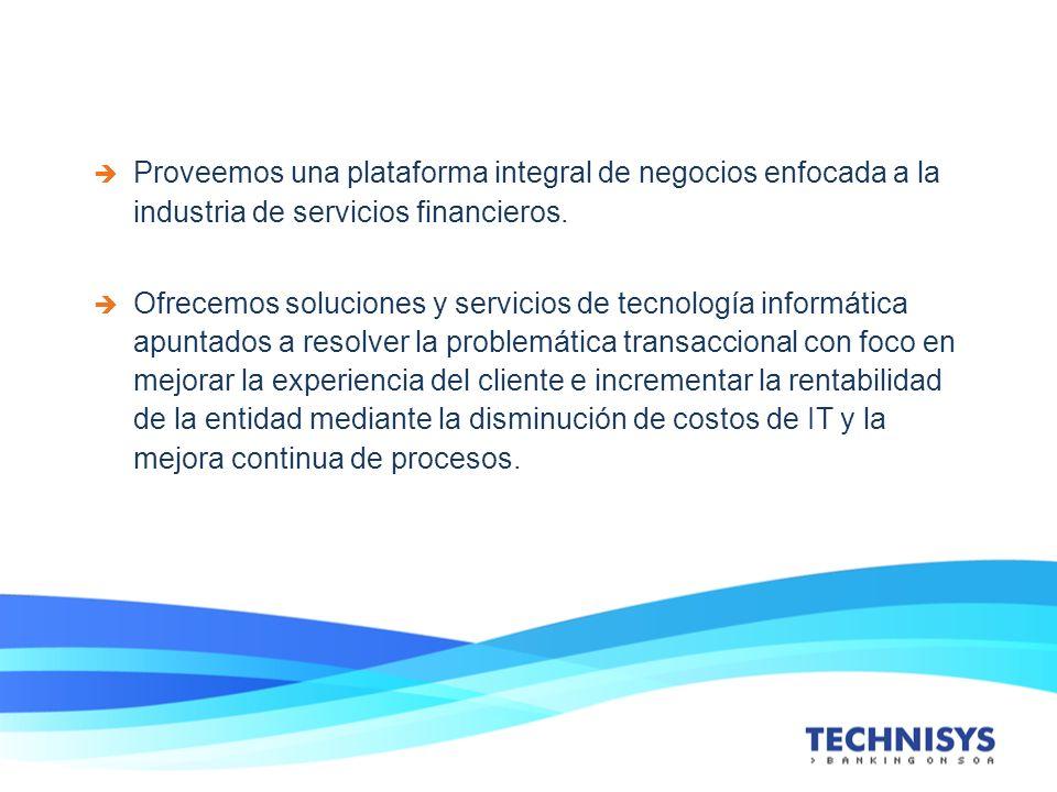 Proveemos una plataforma integral de negocios enfocada a la industria de servicios financieros. Ofrecemos soluciones y servicios de tecnología informá