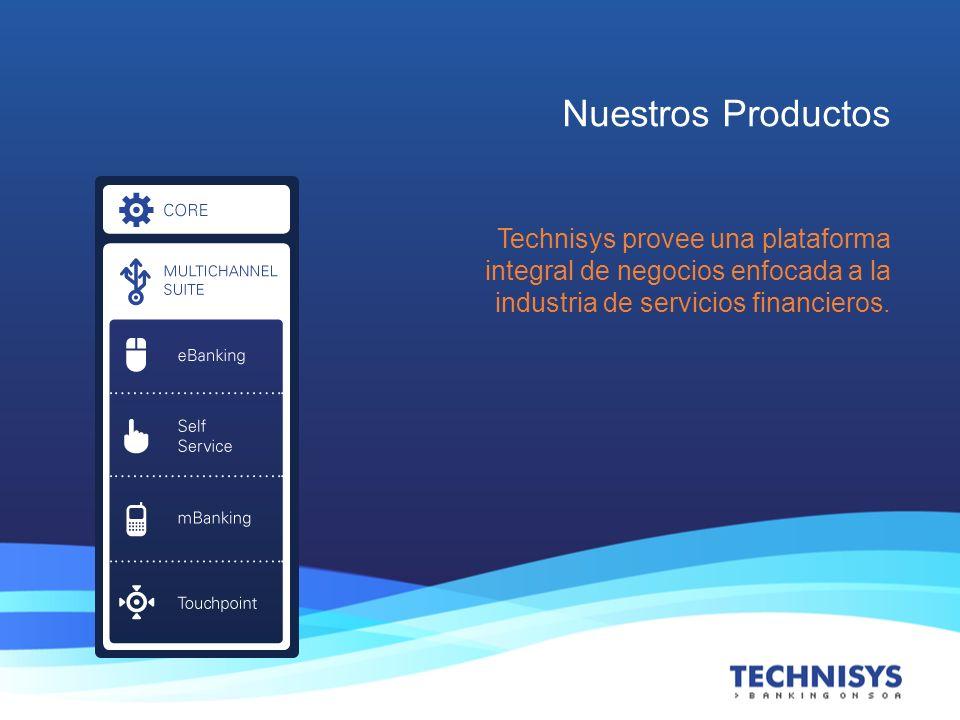 Nuestros Productos Technisys provee una plataforma integral de negocios enfocada a la industria de servicios financieros.