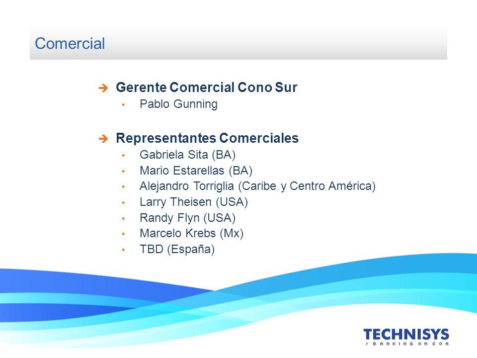 Comercial Gerente Comercial Cono Sur Pablo Gunning Representantes Comerciales Gabriela Sita (BA) Mario Estarellas (BA) Alejandro Torriglia (Caribe y C