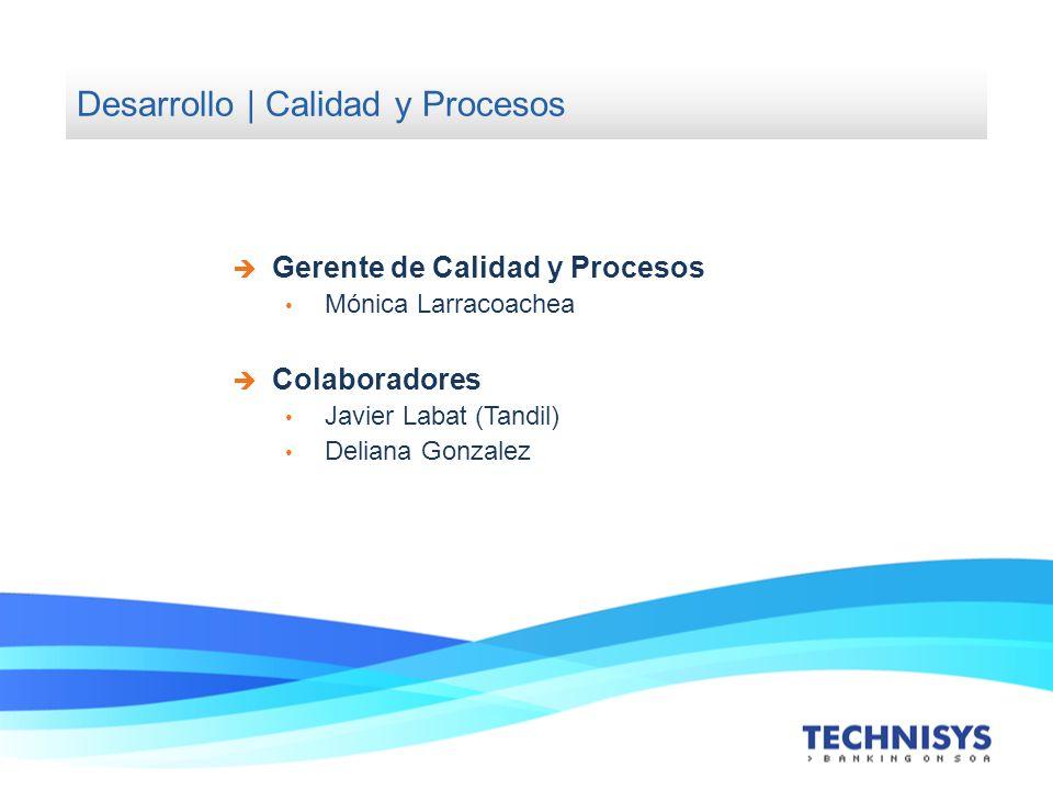 Desarrollo | Calidad y Procesos Gerente de Calidad y Procesos Mónica Larracoachea Colaboradores Javier Labat (Tandil) Deliana Gonzalez