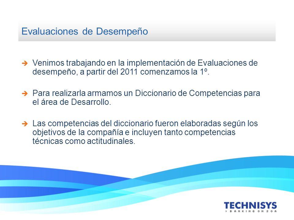 Evaluaciones de Desempeño Venimos trabajando en la implementación de Evaluaciones de desempeño, a partir del 2011 comenzamos la 1º. Para realizarla ar