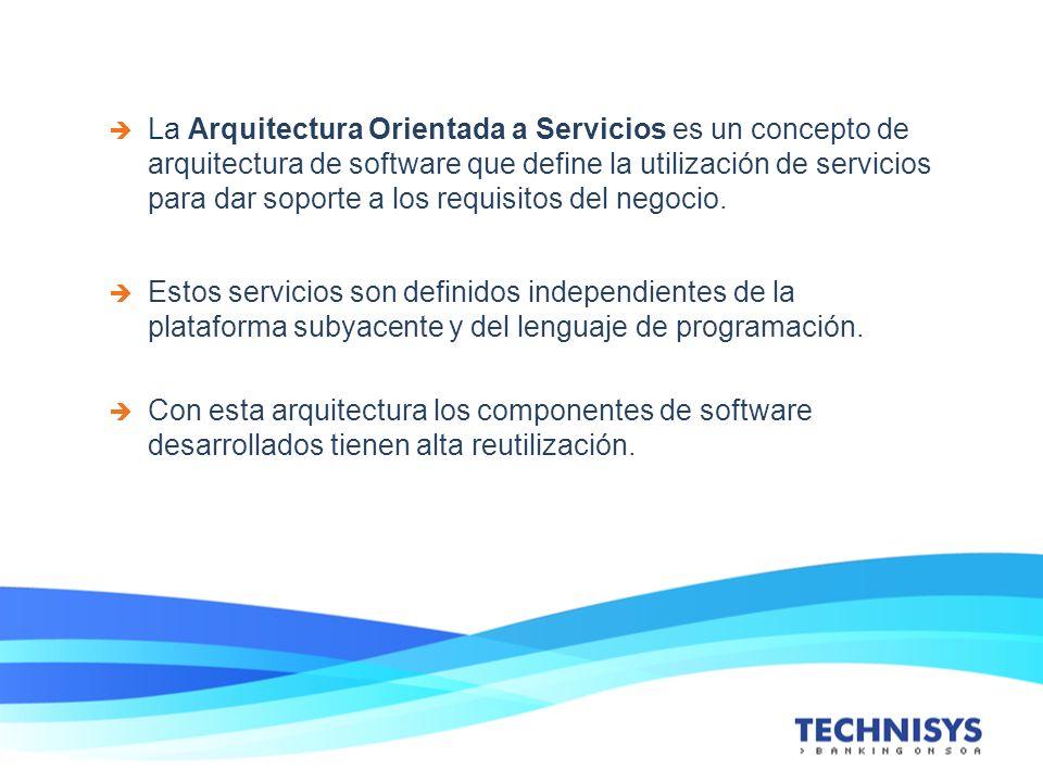 La Arquitectura Orientada a Servicios es un concepto de arquitectura de software que define la utilización de servicios para dar soporte a los requisi