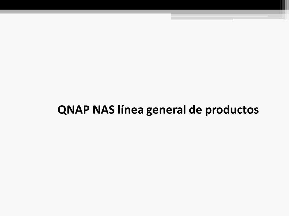 QNAP NAS línea general de productos