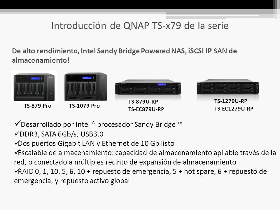 Introducción de QNAP TS-x79 de la serie De alto rendimiento, Intel Sandy Bridge Powered NAS, iSCSI IP SAN de almacenamiento.