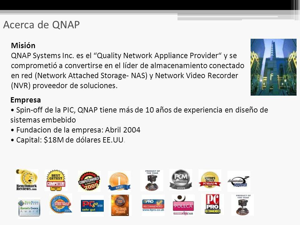 Acerca de QNAP Misión QNAP Systems Inc.
