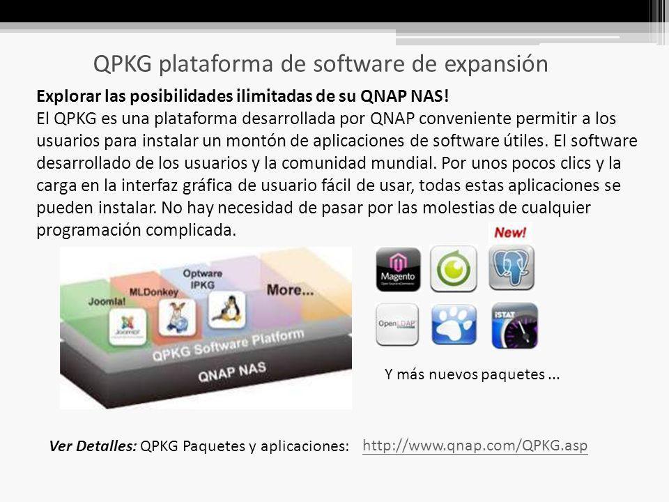 QPKG plataforma de software de expansión Explorar las posibilidades ilimitadas de su QNAP NAS.
