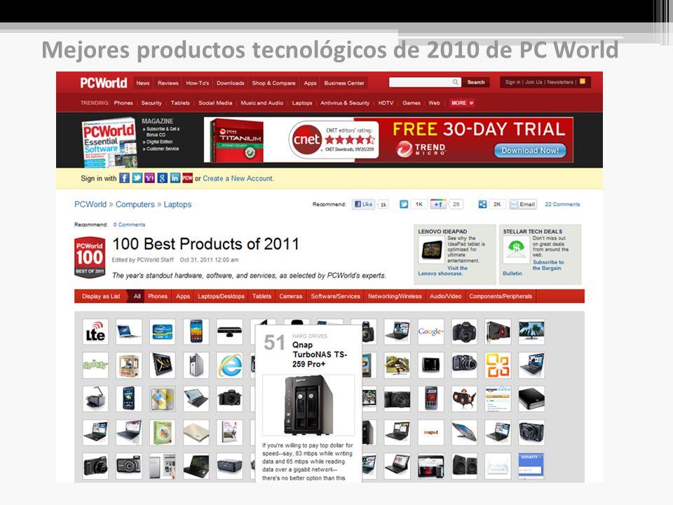 Mejores productos tecnológicos de 2010 de PC World