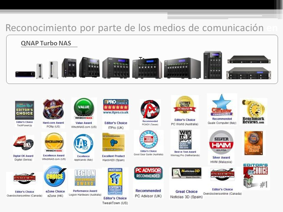 … Other Storage Products in the Market QNAP NAS servidores están ubicados en la alta segmentación del mercado final.
