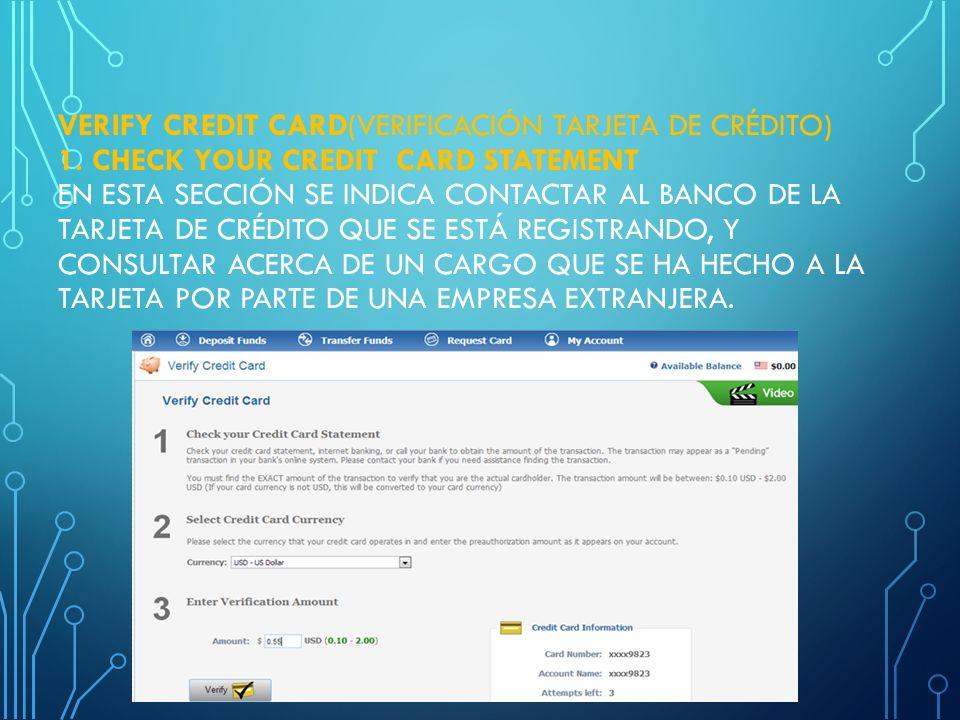 PRE-AUTHORIZATION VALIDATION EN ESTA SECCIÓN ES REQUERIDO DIGITAR EL CÓDIGO DE VERIFICACIÓN QUE SE ENCUENTRA AL REVERSO DE TARJETA DE CRÉDITO (VER EJE
