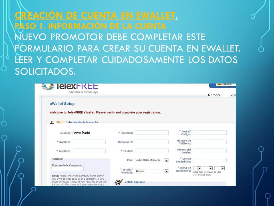 REGISTRO DE TARJETA DE CREDITO EN EWALLET