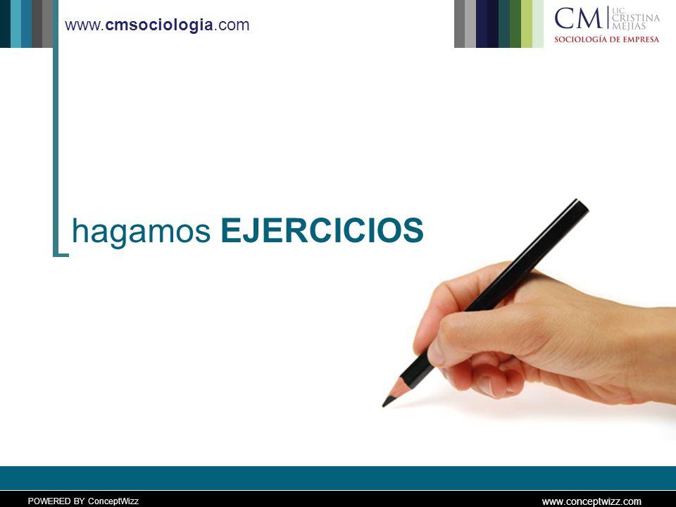 POWERED BY ConceptWizz www.conceptwizz.com www.cmsociologia.com hagamos EJERCICIOS