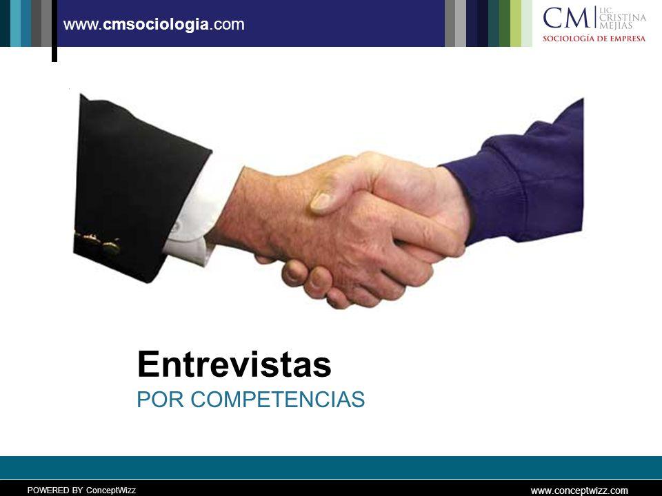 POWERED BY ConceptWizz www.conceptwizz.com www.cmsociologia.com Entrevistas POR COMPETENCIAS