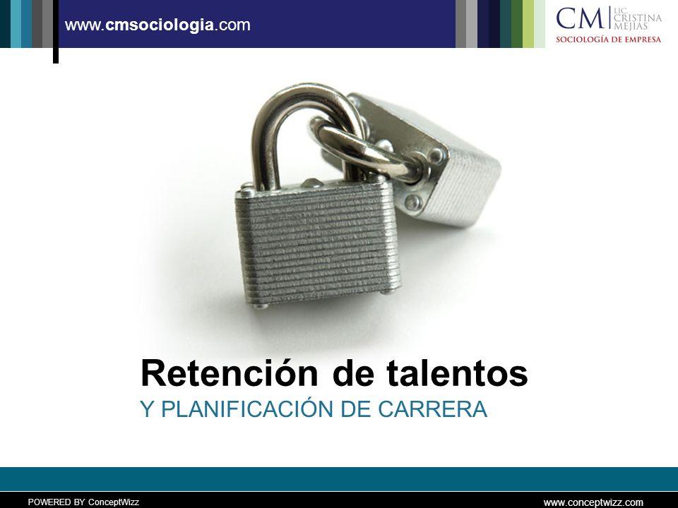 POWERED BY ConceptWizz www.conceptwizz.com www.cmsociologia.com Retención de talentos Y PLANIFICACIÓN DE CARRERA