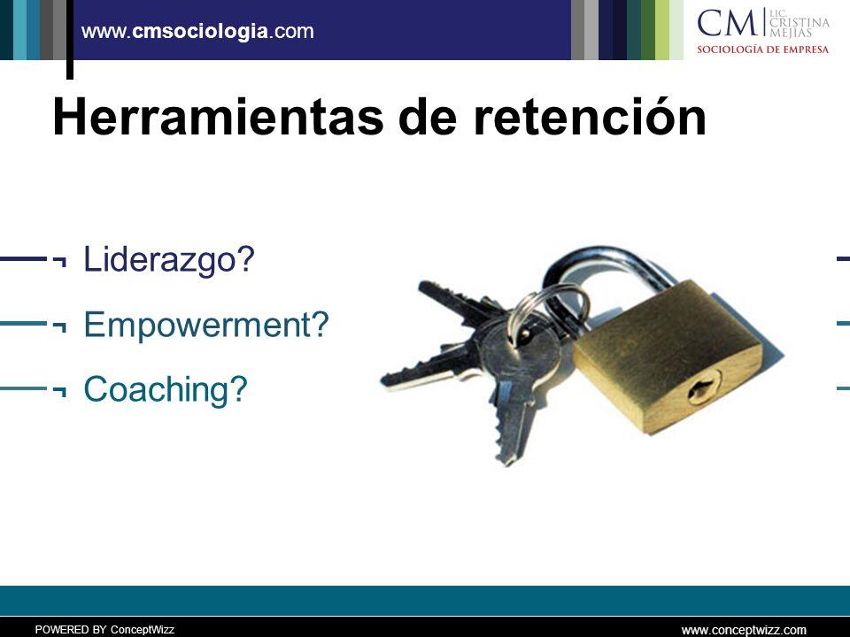 POWERED BY ConceptWizz www.conceptwizz.com www.cmsociologia.com Herramientas de retención ¬ Liderazgo.