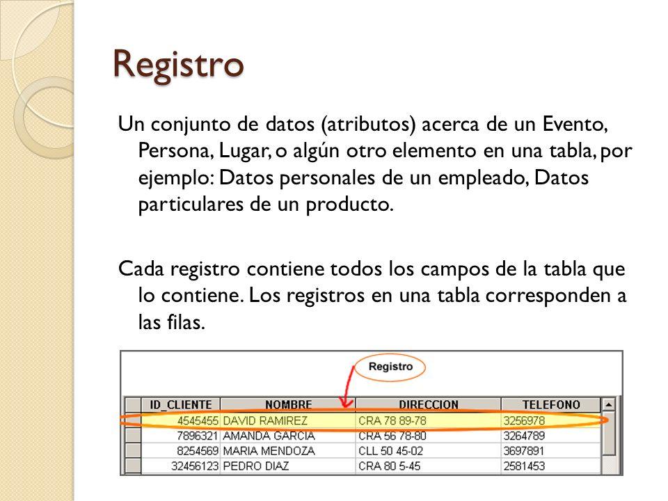 Base de Datos Relacional Es una colección de datos cuya característica principal es que los datos pueden almacenarse y administrarse en forma de tablas.