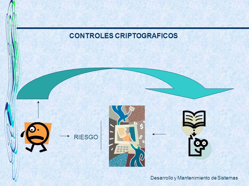Desarrollo y Mantenimiento de Sistemas CONTROLES CRIPTOGRAFICOS RIESGO