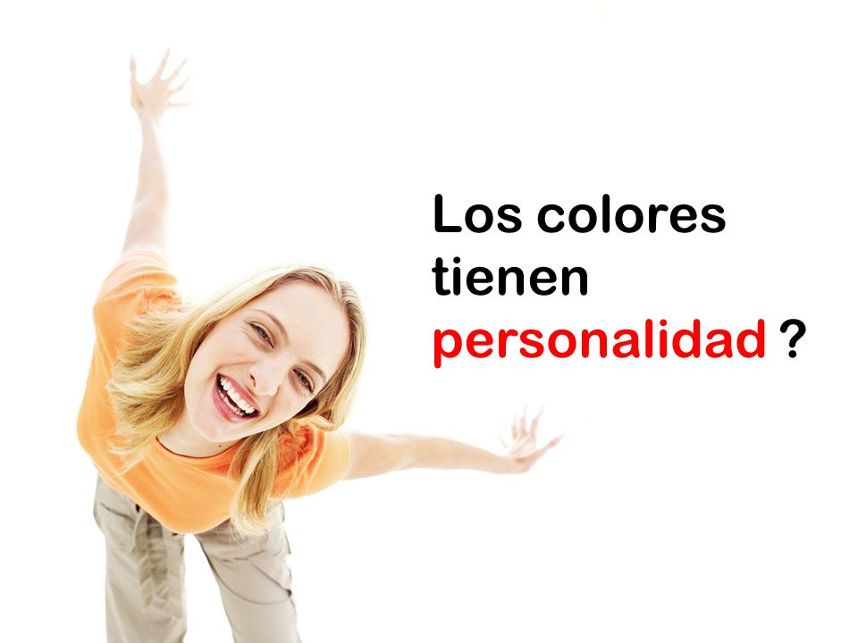 Los colores tienen personalidad