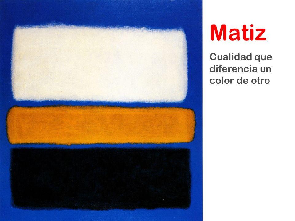 Matiz Cualidad que diferencia un color de otro