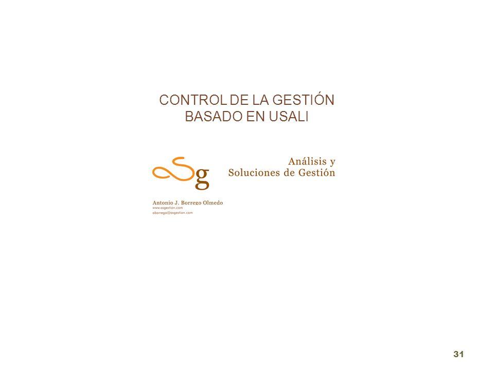CONTROL DE LA GESTIÓN BASADO EN USALI 31