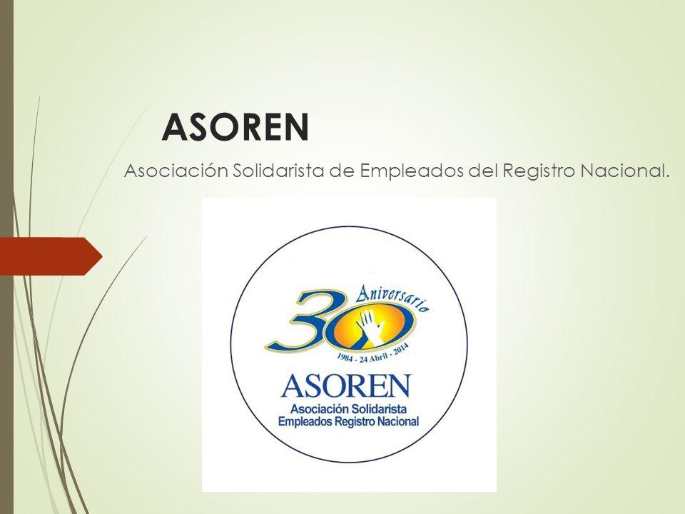 ASOREN Asociación Solidarista de Empleados del Registro Nacional.