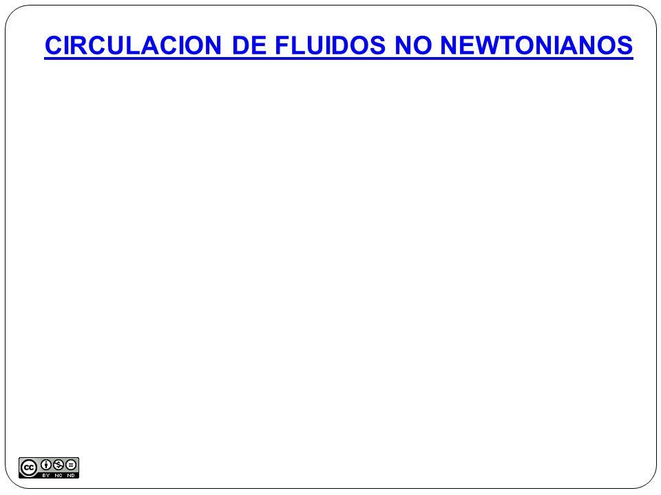 CIRCULACION DE FLUIDOS NO NEWTONIANOS