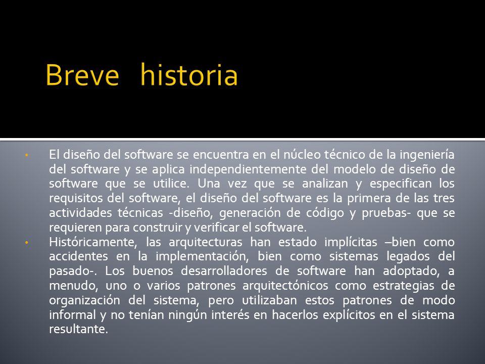 El diseño del software se encuentra en el núcleo técnico de la ingeniería del software y se aplica independientemente del modelo de diseño de software que se utilice.