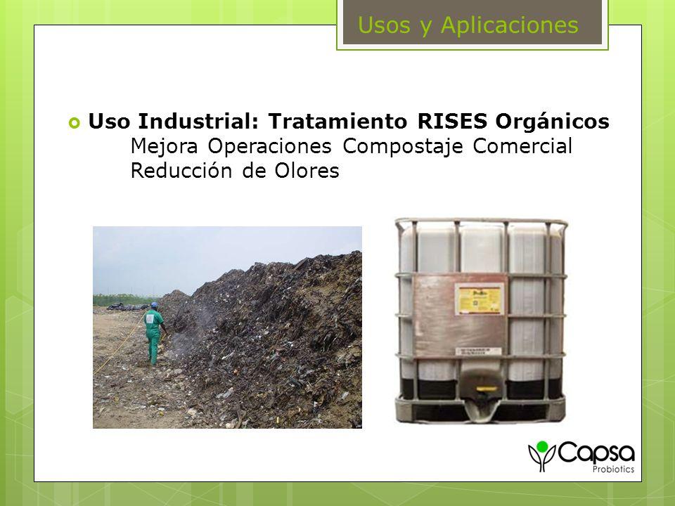 Uso Industrial: Tratamiento RISES Orgánicos Mejora Operaciones Compostaje Comercial Reducción de Olores Usos y Aplicaciones
