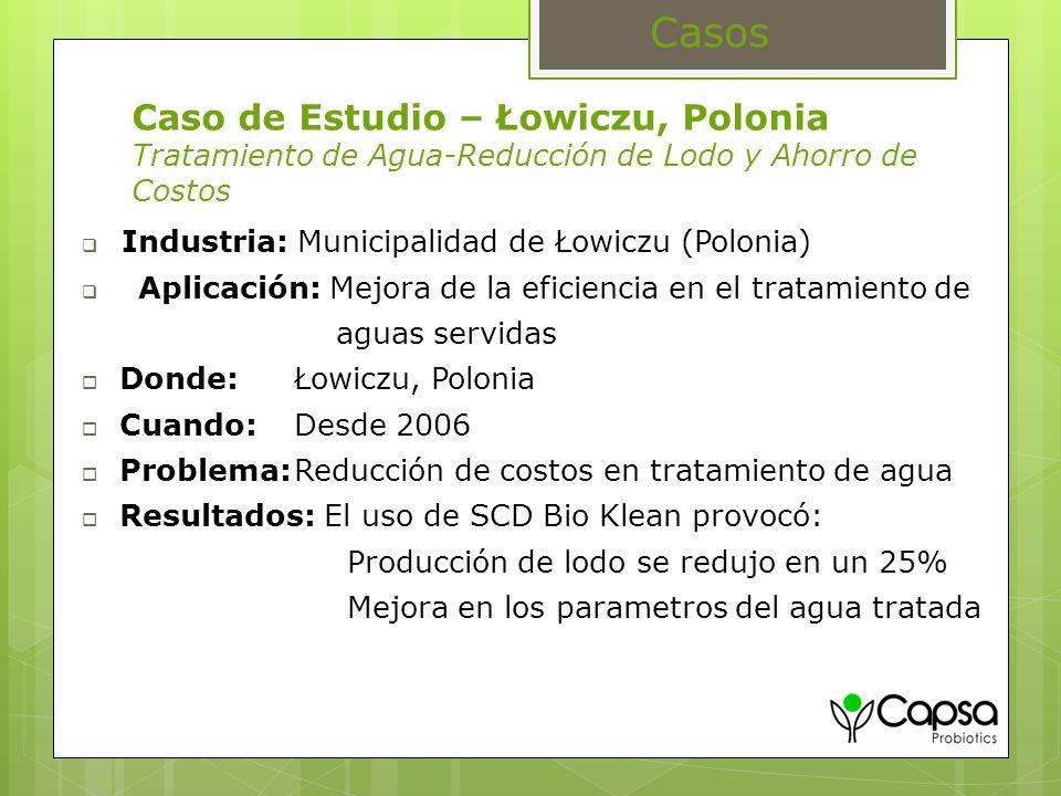 Caso de Estudio – Łowiczu, Polonia Tratamiento de Agua-Reducción de Lodo y Ahorro de Costos Industria: Municipalidad de Łowiczu (Polonia) Aplicación: