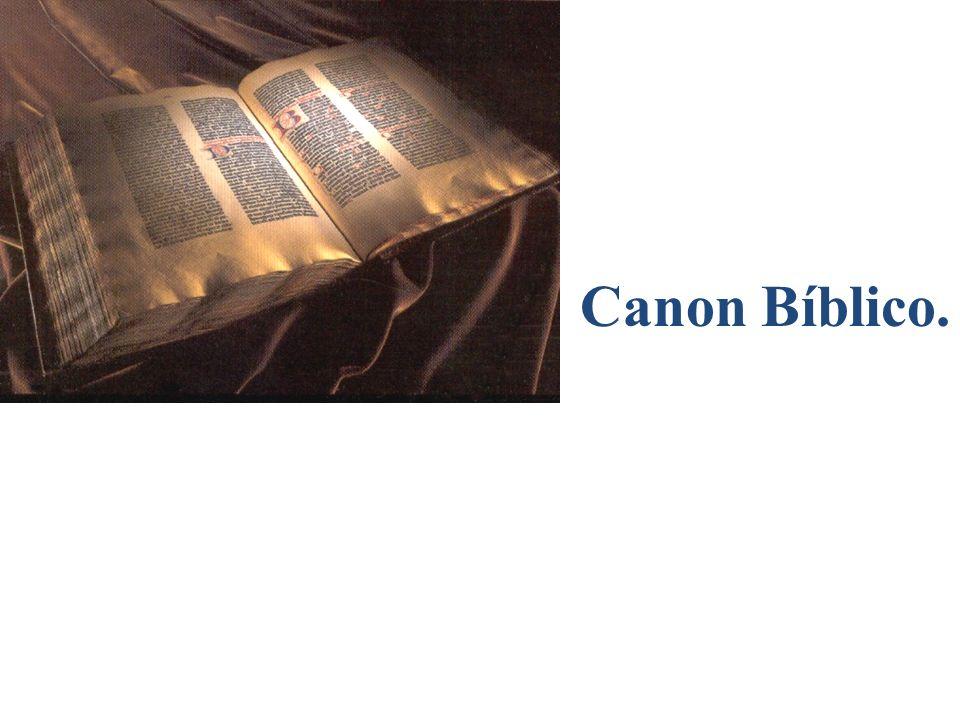 Canon Bíblico.