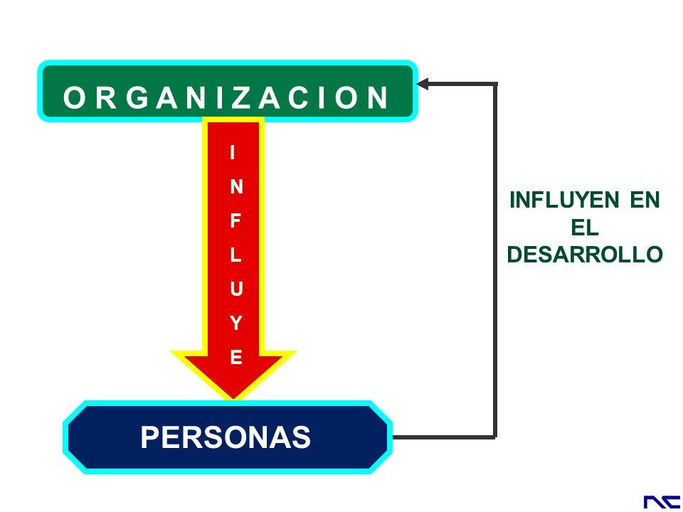 INFLUYEINFLUYE PERSONAS INFLUYEN EN EL DESARROLLO O R G A N I Z A C I O N