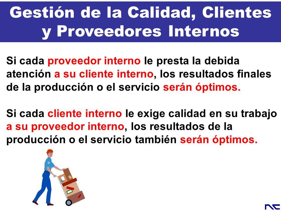 Si cada proveedor interno le presta la debida atención a su cliente interno, los resultados finales de la producción o el servicio serán óptimos. Si c