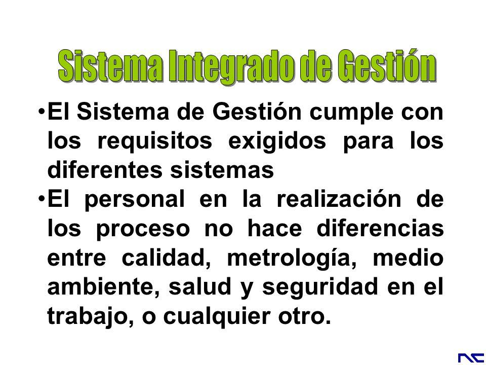 El Sistema de Gestión cumple con los requisitos exigidos para los diferentes sistemas El personal en la realización de los proceso no hace diferencias