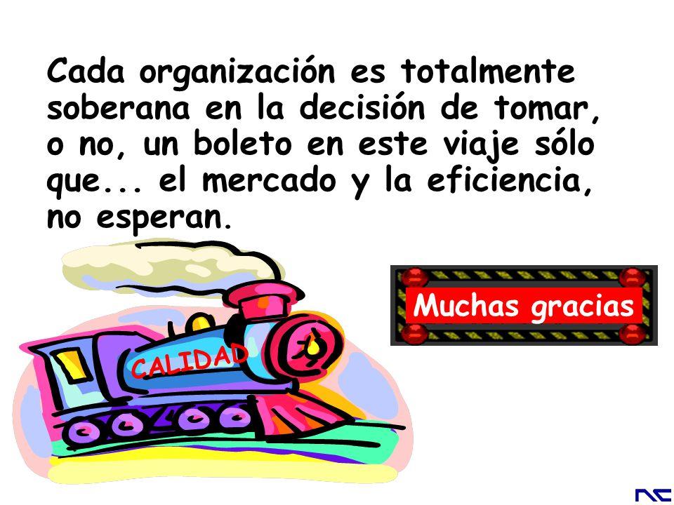 Cada organización es totalmente soberana en la decisión de tomar, o no, un boleto en este viaje sólo que... el mercado y la eficiencia, no esperan. Mu