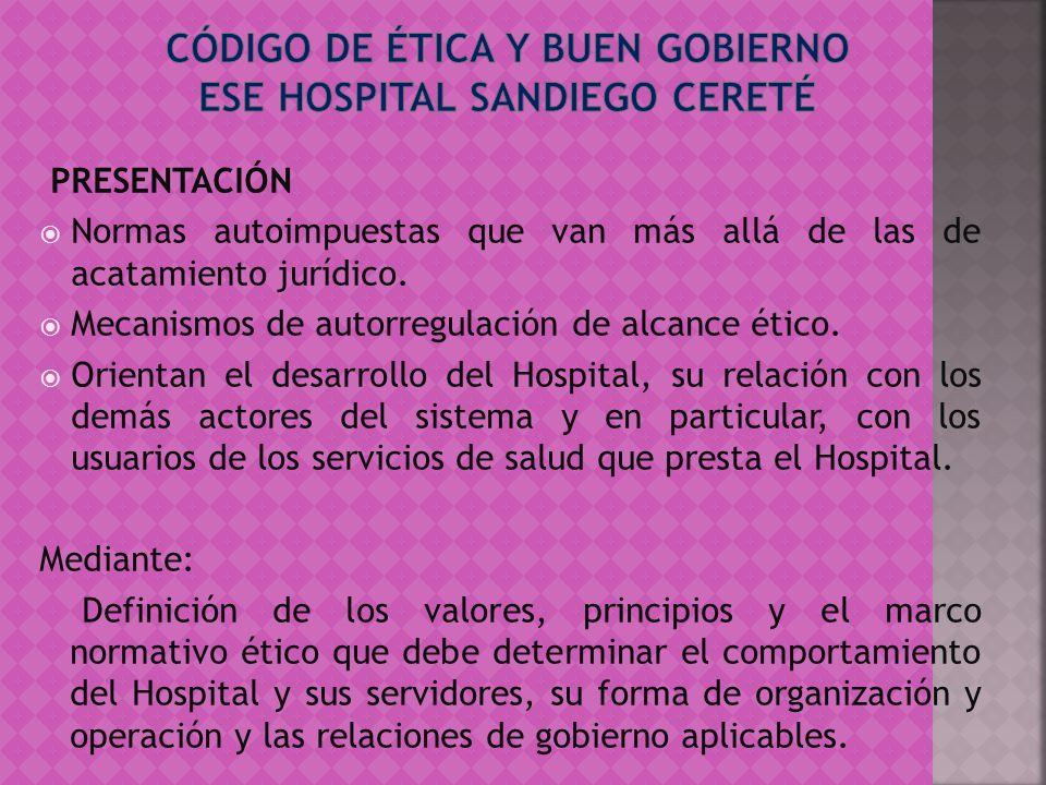 El Gerente General de la empresa será escogido por la Junta Directiva de la ESE HOSPITAL SANDIEGO DE CERETE, por un periodo de cuatro años.