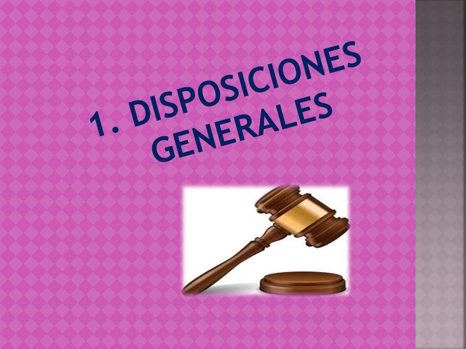 1. DISPOSICIONES GENERALES