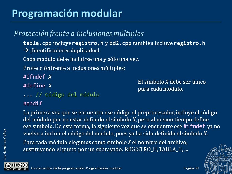Luis Hernández Yáñez Compilación condicional Directivas #ifdef, #ifndef, #else y #endif.