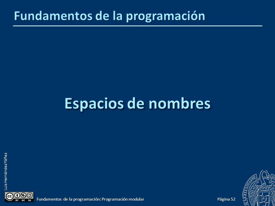 Luis Hernández Yáñez Misma interfaz, implementación alternativa Al compilar, incluimos un archivo de implementación u otro: ¿Programa con tabla ordenada o con tabla desordenada.