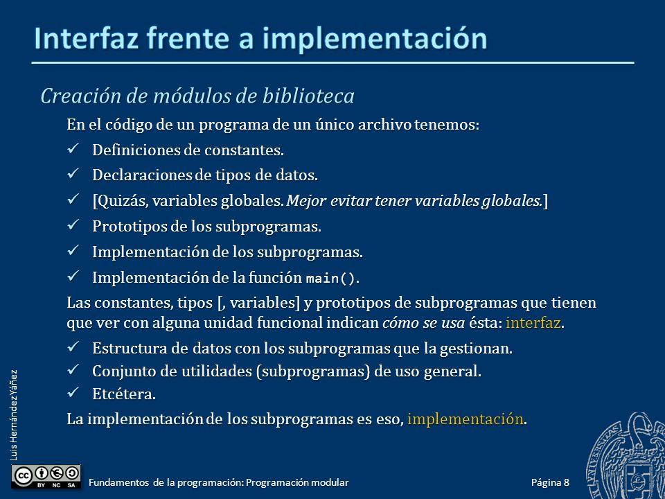 Luis Hernández Yáñez Página 7 Fundamentos de la programación: Programación modular