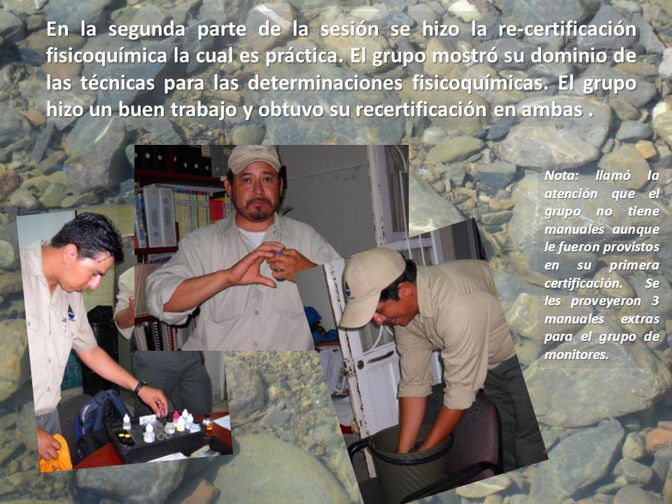 El taller de capacitación para el análisis fisicoquímico y bacteriológico del agua, inició a las 9:00 am en el Parque Bosque Urbano de Saltillo.