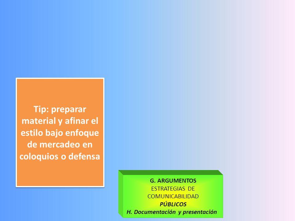 TRATAMIENTOS Y ANÁLISIS E. Tabulación -Integración de inf. -Cuanti -Cuali F.HALLAZGOS - Interpretación - Análisis - Síntesis Tip: Buscar participar en
