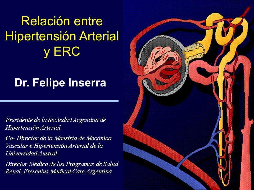 Dr. Felipe Inserra Presidente de la Sociedad Argentina de Hipertensión Arterial. Co- Director de la Maestría de Mecánica Vascular e Hipertensión Arter