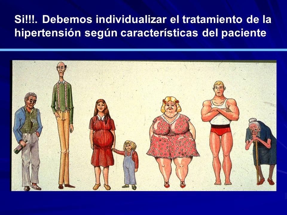 Si!!!. Debemos individualizar el tratamiento de la hipertensión según características del paciente