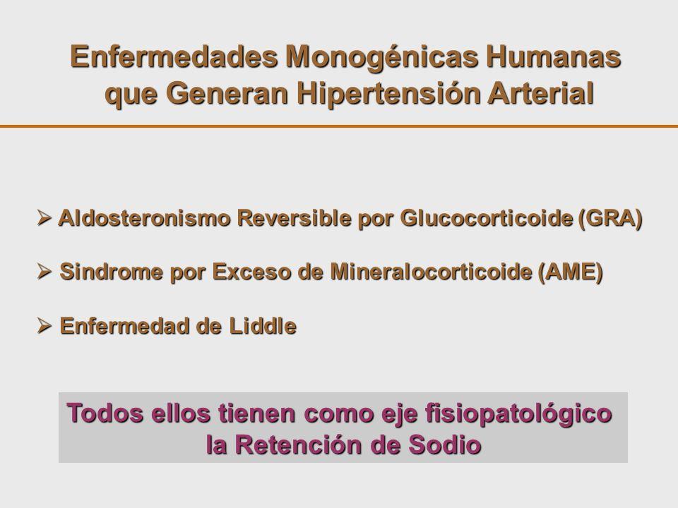 Enfermedades Monogénicas Humanas que Generan Hipertensión Arterial Aldosteronismo Reversible por Glucocorticoide (GRA) Aldosteronismo Reversible por G